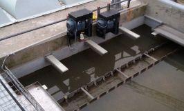 Treuils électriques gamme économique PRIMO utilisés pour déplacer des couvertures de bassins de décantation.